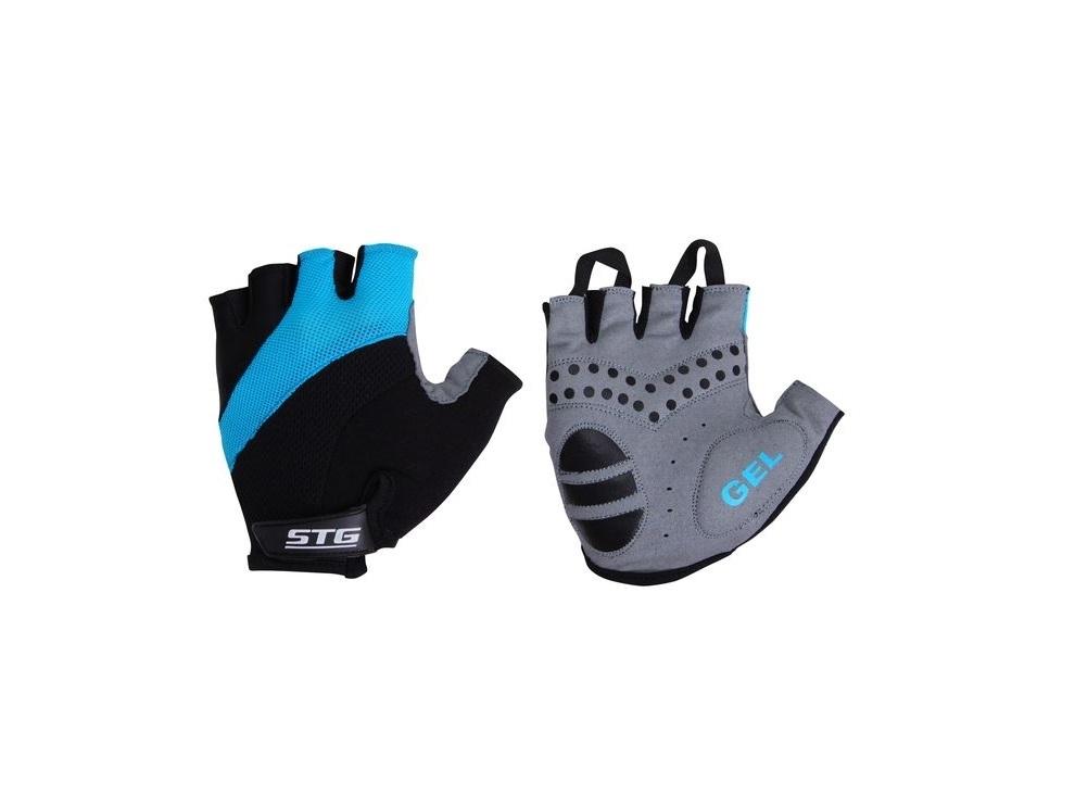 Перчатки велосипедные STG 61884 (кожа+лайкра)